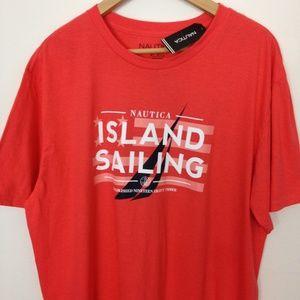 Nautica Island Sailing XL Men Orange T-Shirt NWT